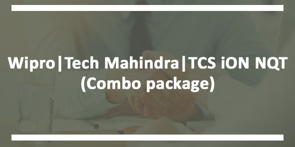 Combo Package For Wipro, Tech Mahindra, TCS iON NQT