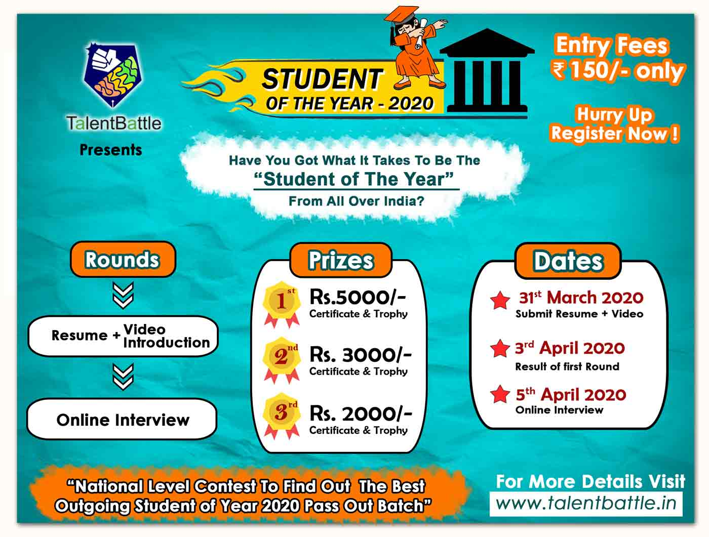 Student of The Year Contest- 2020 Batch