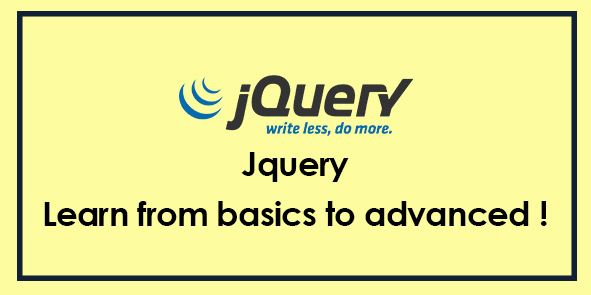 JQUERY - Complete Learning Course